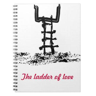 The ladder of love spiral notebook