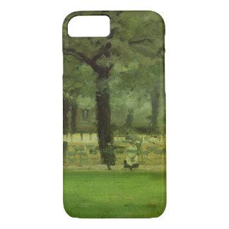 The Ladie's Mile, Kensington Gardens (oil on panel iPhone 7 Case