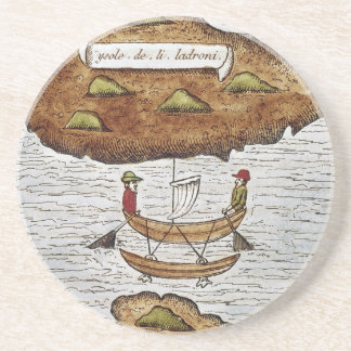 THE LADRONE ISLANDS BEVERAGE COASTER