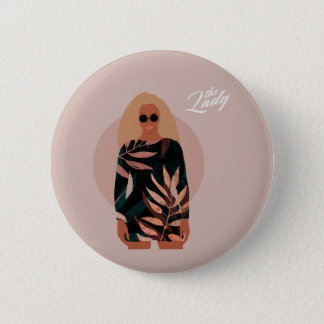 The Lady 2 Inch Round Button