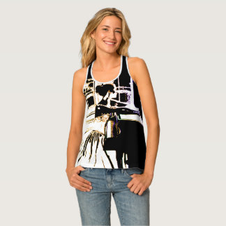 THE LADY AND THE PIANO TANK TOP