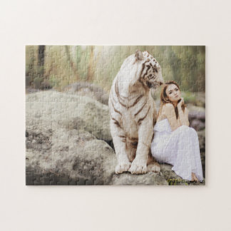 The Lady and The Tiger Jigsaw Puzzle