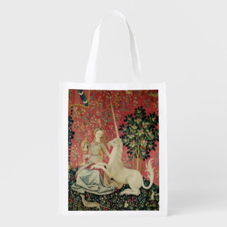 The Lady and the Unicorn: 'Sight' Grocery Bag