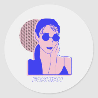 THE LADY - FASHION CLASSIC ROUND STICKER