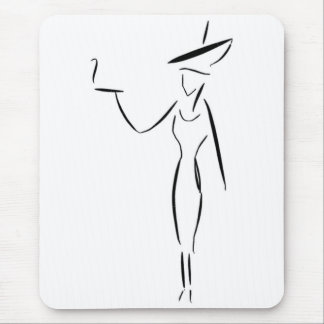 The Lady in the Big Hat #1 Mouse Pads