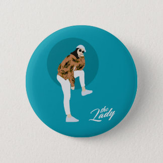 The Lady - Leaf 2 Inch Round Button