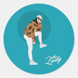 The Lady - Leaf Classic Round Sticker