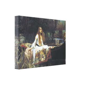 The Lady of Shallot, 1888 Gallery Wrap Canvas