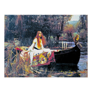 The Lady of Shalott, Art Nouveau painting Poster