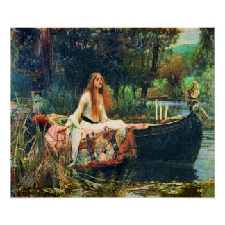 The Lady of Shalott by John William Waterhouse Poster
