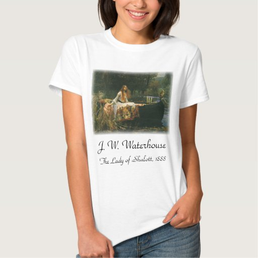 The Lady of Shalott On Boat by JW Waterhouse T Shirts
