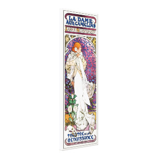The Lady of the Camellias by Alphonse Mucha Canvas Print