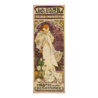 The Lady of the Camellias vintage Art Nouveau Poster