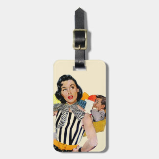 The Lady Was Insulted Luggage Tag