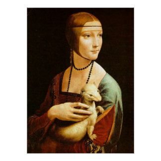 The Lady with an Ermine, Leonardo Da Vinci Poster