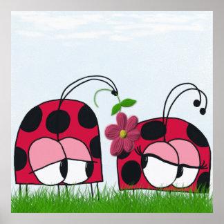The Ladybug Wooing His New Love Print