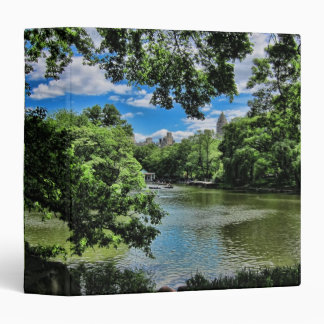 "The Lake at Central Park, NYC 1.5"" Photo Album 3 Ring Binders"