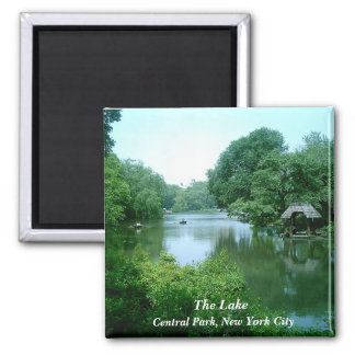 The Lake in Central Park Square Magnet