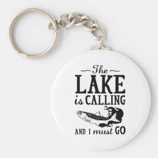 The Lake Is Calling Basic Round Button Keychain