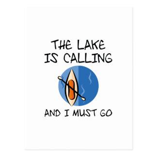 The Lake Is Calling Postcard