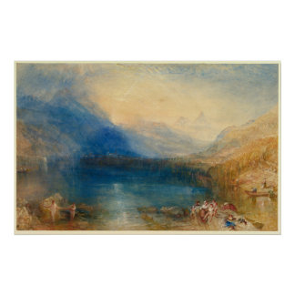 The Lake of Zug Joseph Mallord William Turner Poster