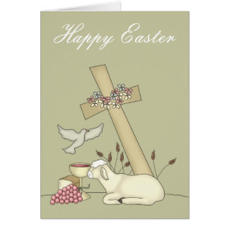 The Lamb & The Cross Easter Greeting Card