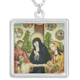 The Lamentation of the Dead Christ, c.1520 Silver Plated Necklace