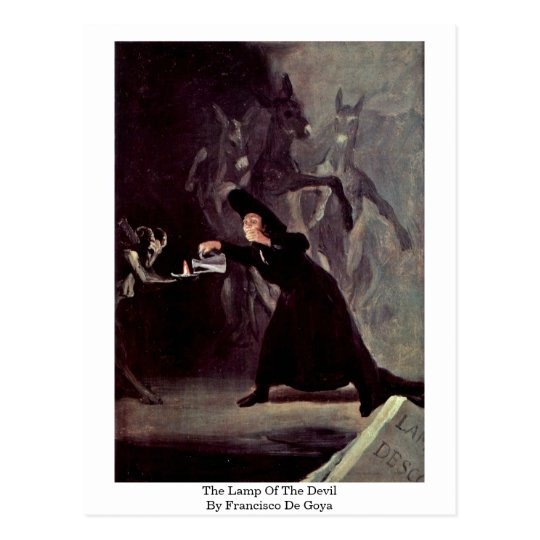 The Lamp Of The Devil By Francisco De Goya Postcard