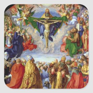 The Landauer Altarpiece, All Saints Day, 1511 Square Sticker