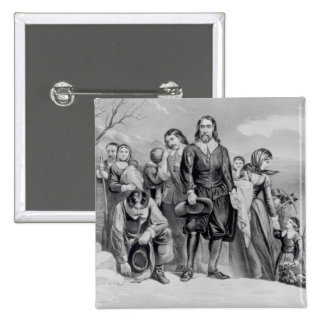 The Landing of the Pilgrims 2 Inch Square Button