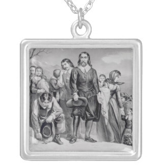 The Landing of the Pilgrims Silver Plated Necklace