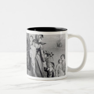 The Landing of the Pilgrims Two-Tone Coffee Mug
