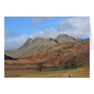 The Langdale Pikes, English Lake District Card