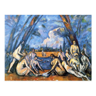 The Large Bathers by Paul Cezanne Postcard