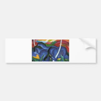 The Large Blue Horses by Franz Marc Bumper Sticker