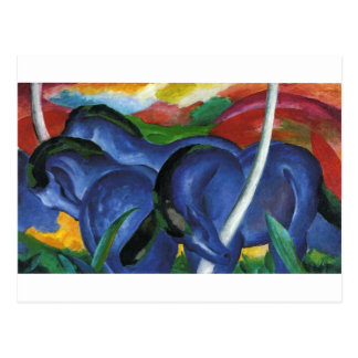 The Large Blue Horses by Franz Marc Postcard