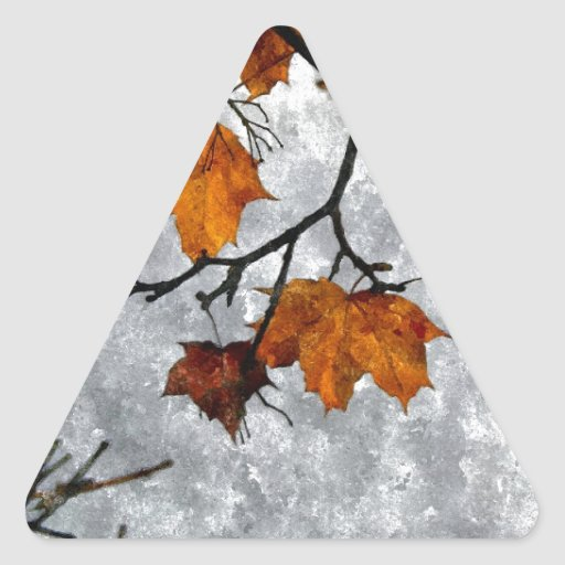 The Last Autumn Leaves Artwork Triangle Stickers