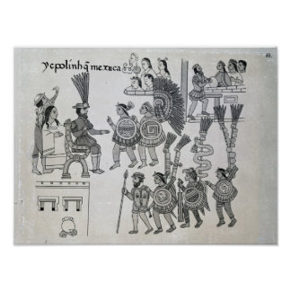 The last Aztec Emperor Cuauhtemoc surrenders Poster