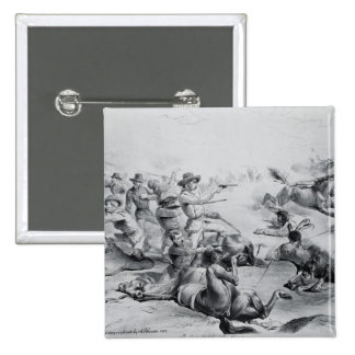 The Last Battle of General Custer 2 Inch Square Button