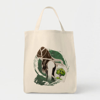 The Last Breath on Earth(SAVE THE FOREST) Grocery Tote Bag