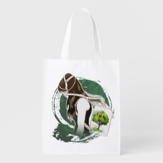 The Last Breath on Earth(SAVE THE FOREST) Reusable Grocery Bags