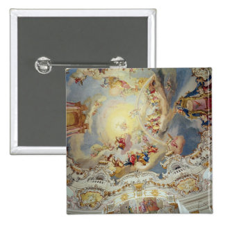 The Last Judgement, ceiling painting 2 Inch Square Button