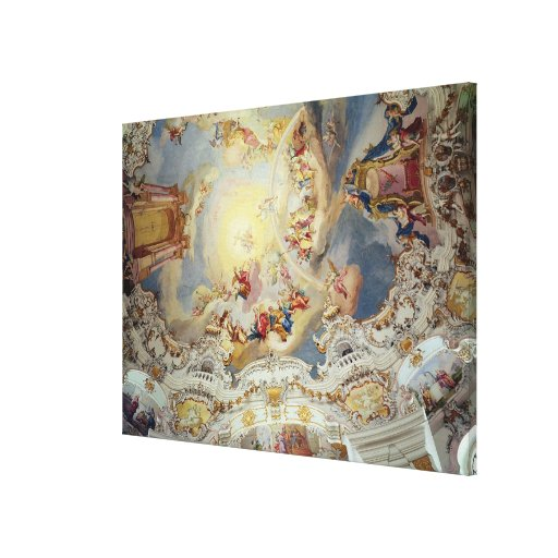 The Last Judgement, ceiling painting Stretched Canvas Prints