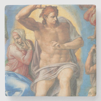 The Last Judgment  Michelangelo stone coaster