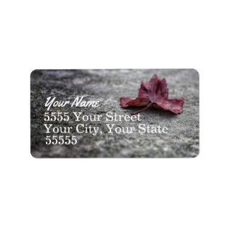 The Last Leaf Address Labels