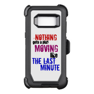 The Last Minute Plans ~ Procrastinator Typography OtterBox Defender Samsung Galaxy S8 Case