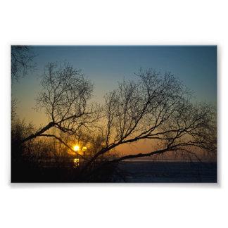 The Last Precious Bit of Sun Photo Print