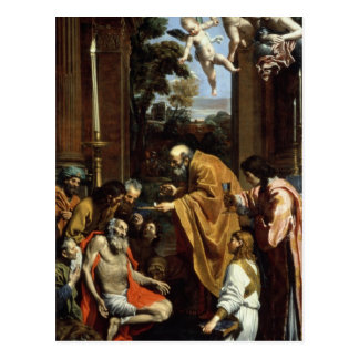 The Last Sacrament of St. Jerome, 1614 Postcard
