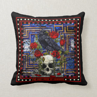 The Last Summer Roses Throw Pillow