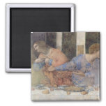 The Last Supper, 1495-97 2 Square Magnet